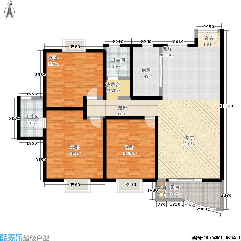 春天花园152.64㎡俊逸世家面积15264m户型