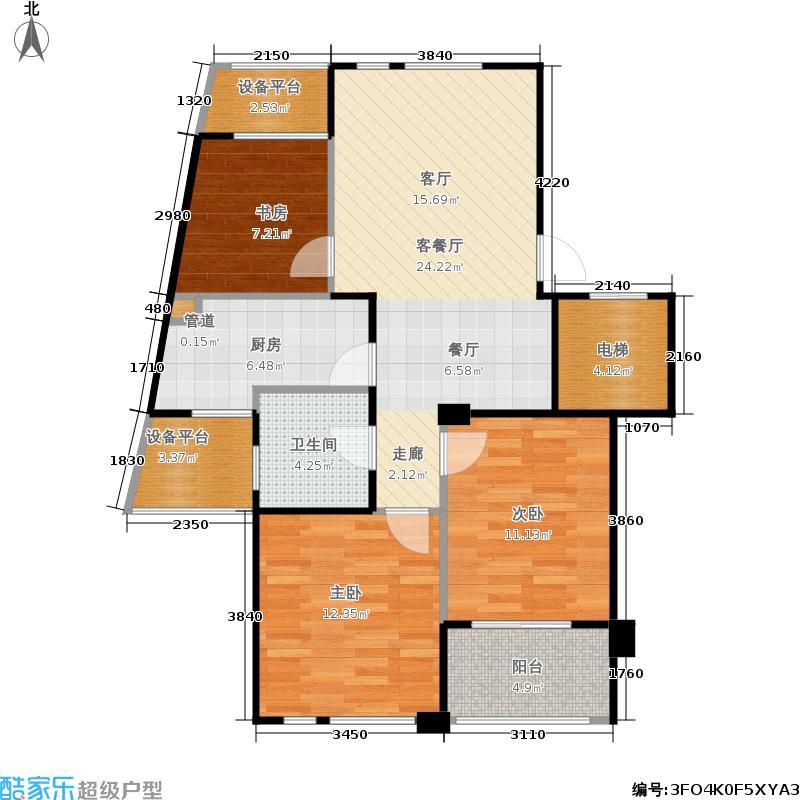 大美公寓88.59㎡g户型