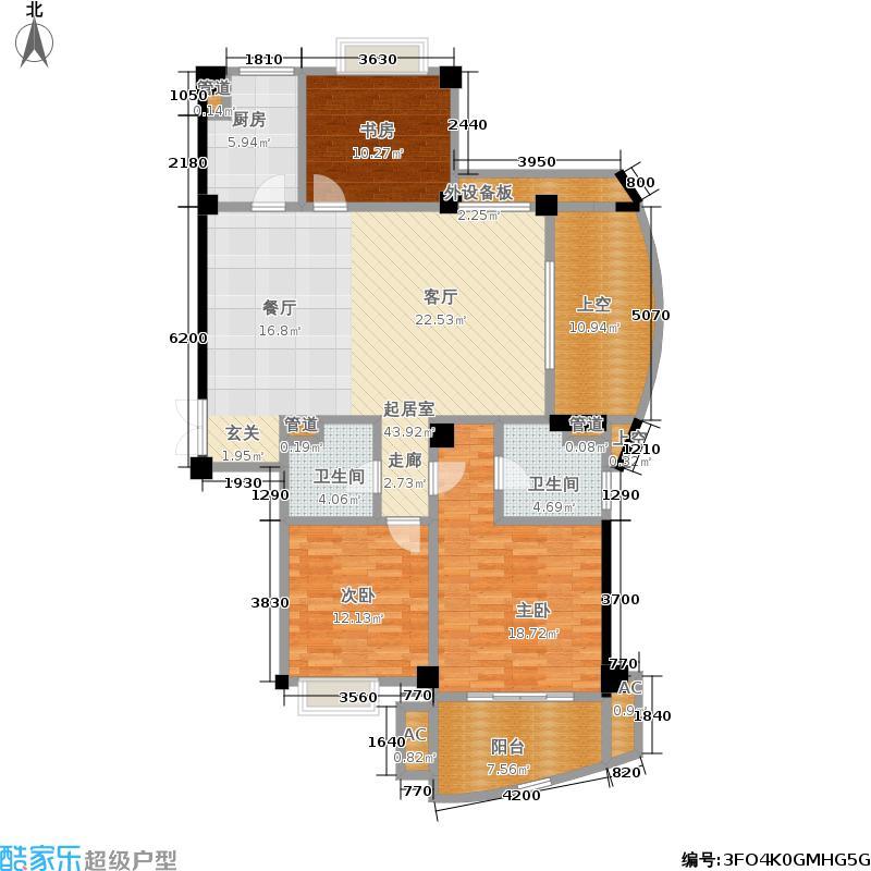 铂金时代134.90㎡面积13490m户型