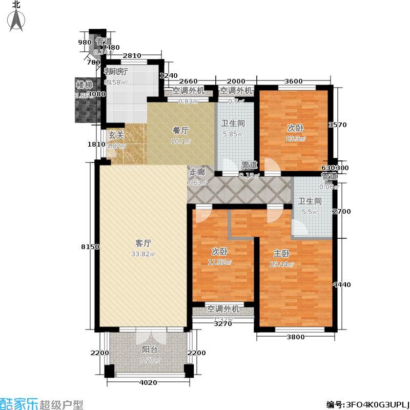 紫桂花园162.82㎡面积16282m户型