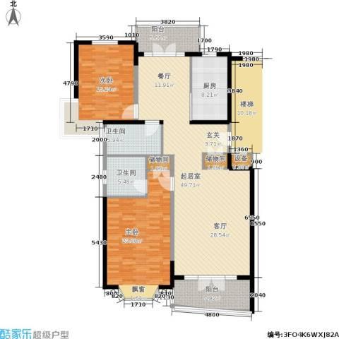 名江七星城2室0厅2卫1厨175.00㎡户型图