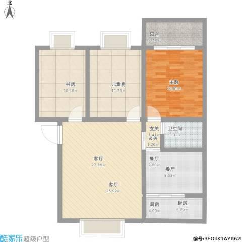 世纪豪园3室2厅1卫1厨119.00㎡户型图