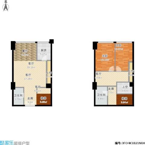 红星国际广场2室2厅2卫1厨140.00㎡户型图
