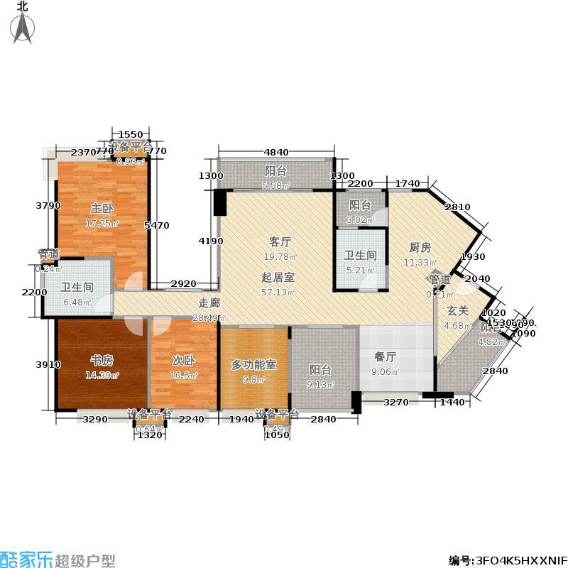 新鸿基悦城170.00㎡2011年在售1期4、5栋170平米4室2厅2卫户型
