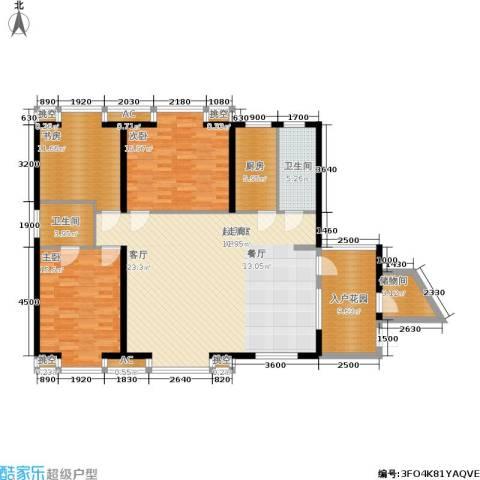明发滨江新城3室0厅2卫1厨150.00㎡户型图