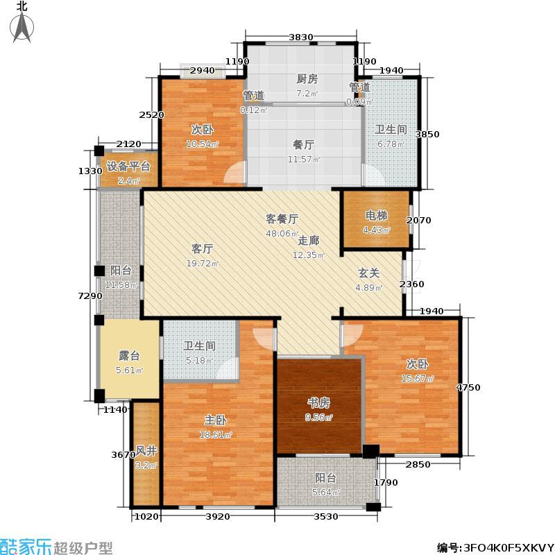 大美公寓161.08㎡L户型