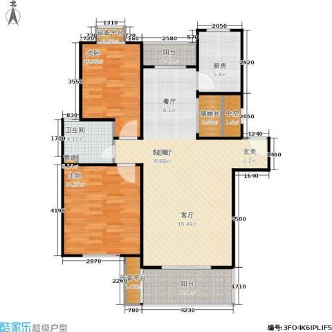 嘉定颐景园2室1厅1卫1厨92.00㎡户型图