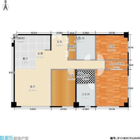 朝外MEN3室1厅2卫0厨151.00㎡户型图