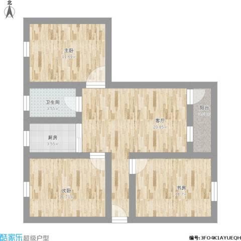 建兴小区3室1厅1卫1厨101.00㎡户型图