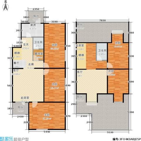 长椿苑5室0厅2卫1厨238.00㎡户型图