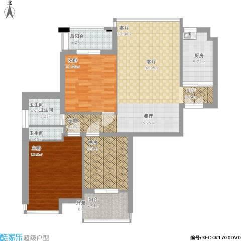 三水湾小区3室1厅1卫1厨118.00㎡户型图