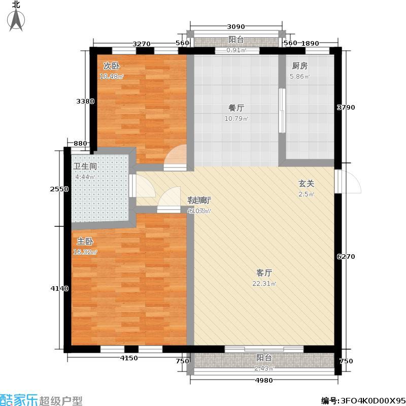 天虹公寓95.00㎡面积9500m户型