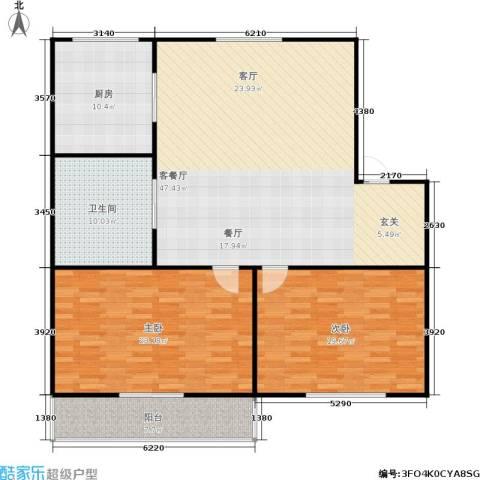 丹桂公寓2室1厅1卫1厨125.00㎡户型图