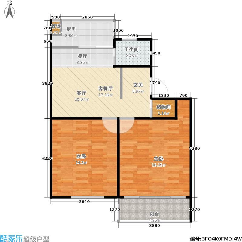 紫金公寓65.00㎡面积6500m户型