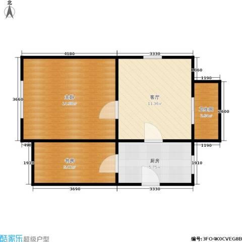 横河新村2室1厅1卫1厨44.00㎡户型图