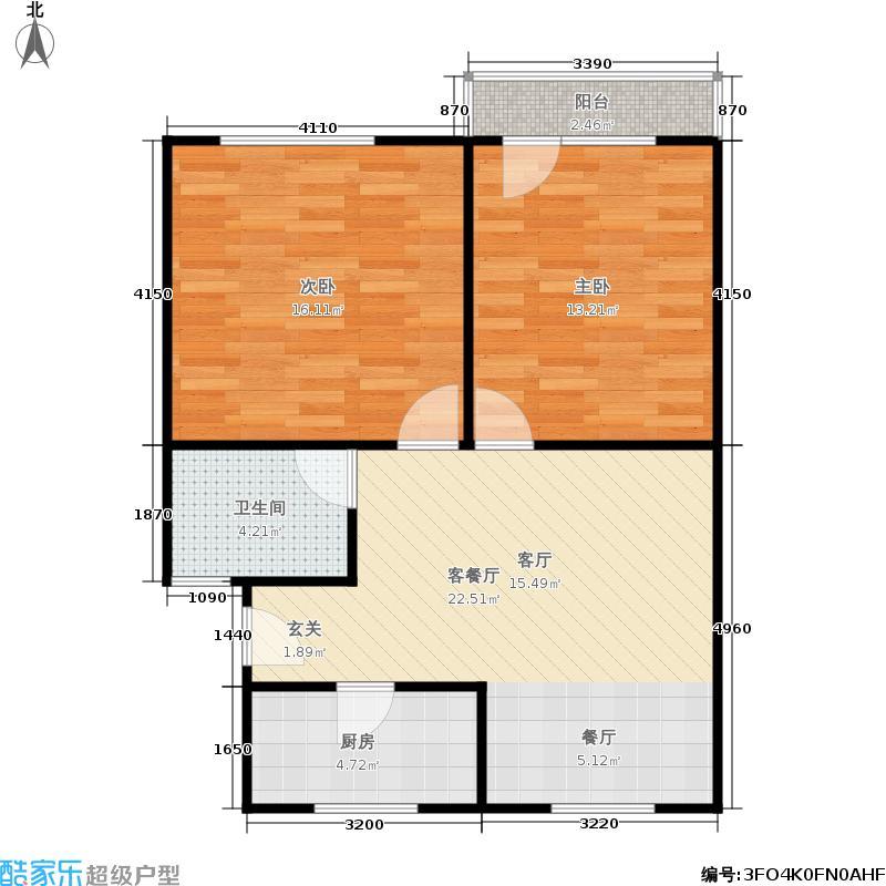 紫金公寓68.00㎡面积6800m户型