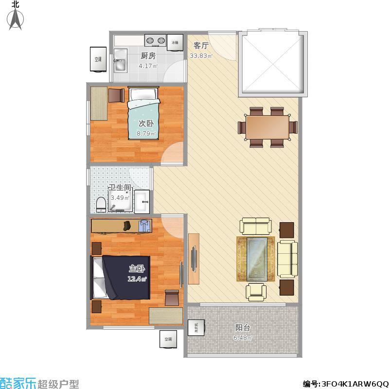 80平方两室两厅