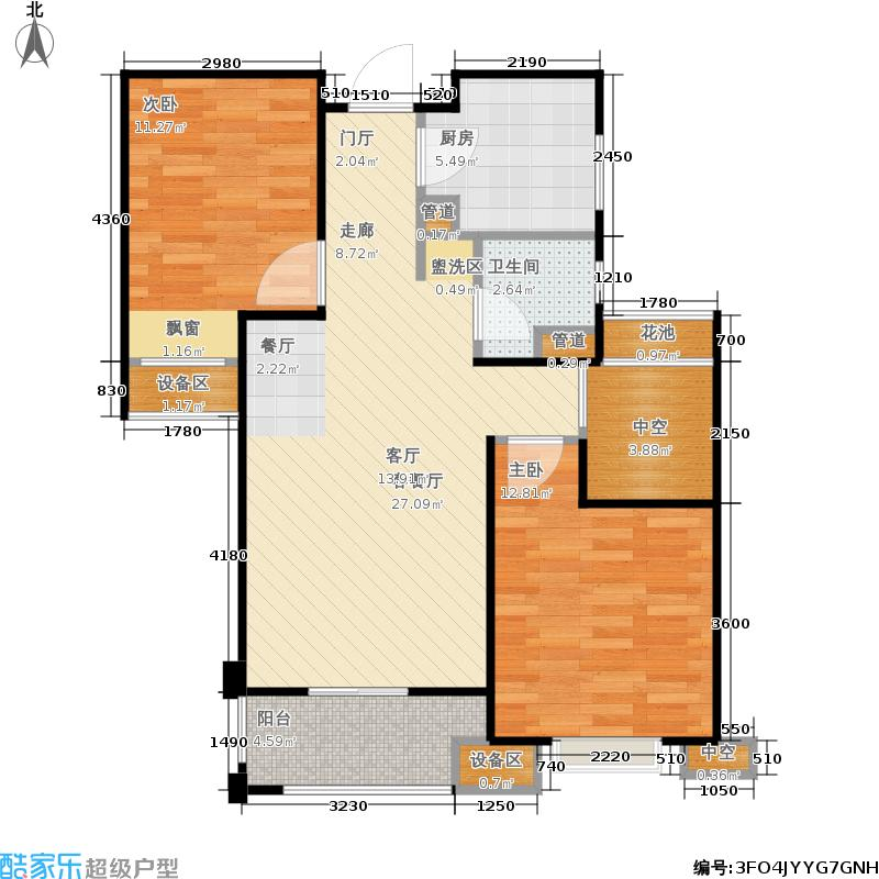 金地自在城83.00㎡四期6号楼标准层B2-3户型
