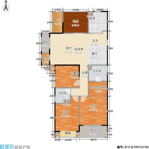 天阳尚城国际4室0厅2卫1厨129.00㎡户型图