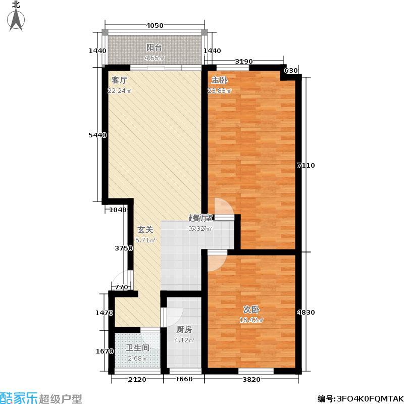 九月庭院98.00㎡面积9800m户型