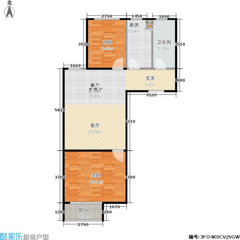 风林公寓89.90㎡汇隆面积8990m户型