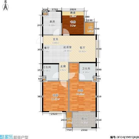 天阳尚城国际3室0厅2卫1厨89.00㎡户型图