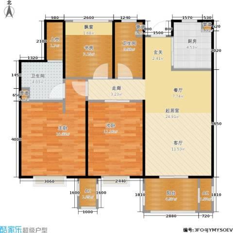 天阳尚城国际3室0厅2卫1厨90.00㎡户型图