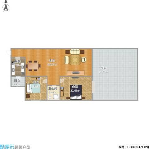 新地雅庭2室1厅1卫1厨232.00㎡户型图