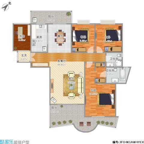盛南领地4室1厅2卫1厨183.00㎡户型图