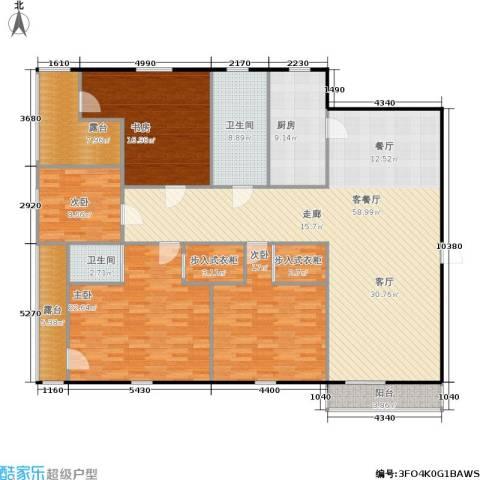 星洲花园4室1厅2卫1厨180.00㎡户型图