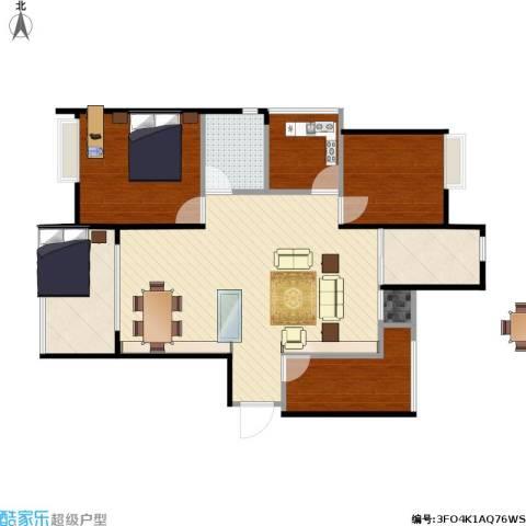 金地自在城4室1厅1卫1厨109.00㎡户型图