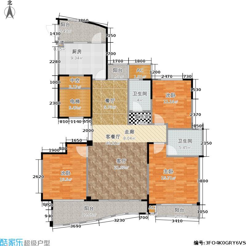 郁金香岸146.00㎡绿城西子面积14600m户型