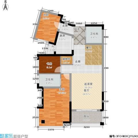 碧水豪园3室0厅2卫1厨160.00㎡户型图