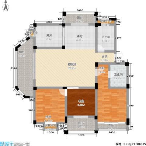 泰和苑3室0厅2卫1厨163.00㎡户型图
