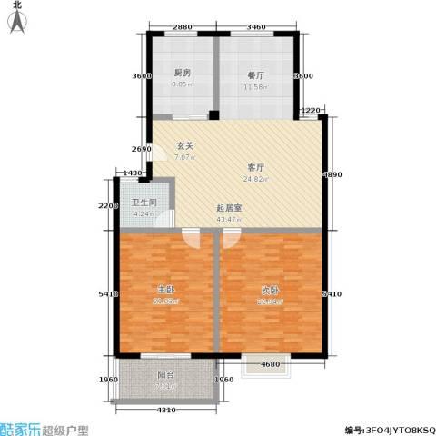 泰和苑2室0厅1卫1厨150.00㎡户型图