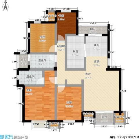 泰和苑4室0厅2卫1厨147.00㎡户型图