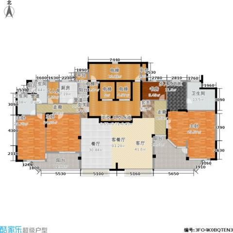 中信君庭4室1厅3卫1厨453.00㎡户型图