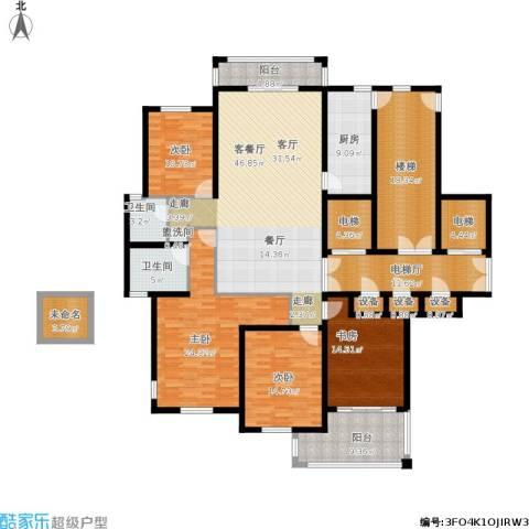 香格里拉花园4室1厅2卫1厨269.00㎡户型图