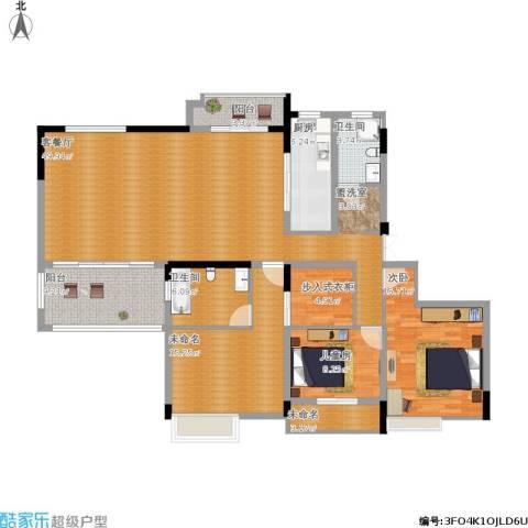 国信上城2室1厅2卫1厨178.00㎡户型图