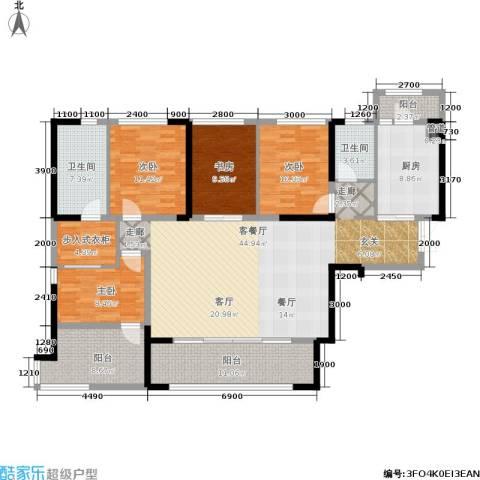 万科紫台4室1厅2卫1厨167.00㎡户型图