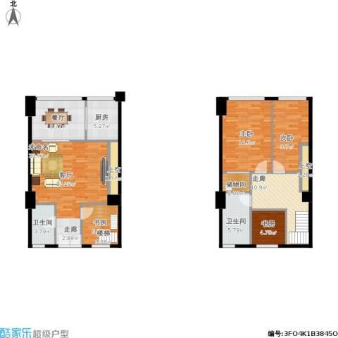 红星国际广场4室1厅2卫1厨140.00㎡户型图