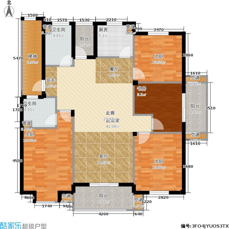 湖滨花园135.00㎡7、8#楼标准层东套户型