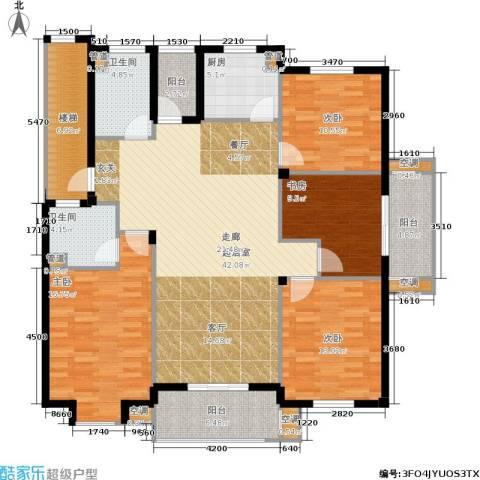 湖滨花园4室0厅2卫1厨135.00㎡户型图