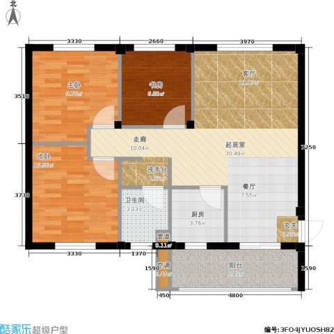 湖滨花园3室0厅1卫1厨85.00㎡户型图