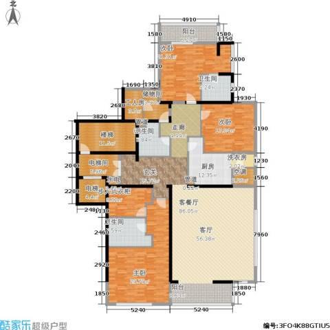融泽府3室1厅3卫1厨285.00㎡户型图