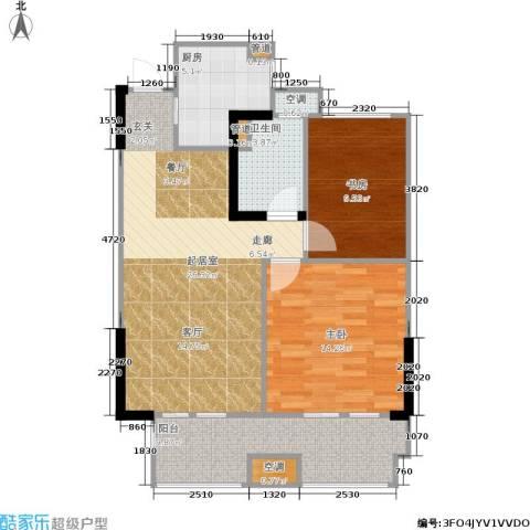 金地自在城2室0厅1卫1厨78.00㎡户型图