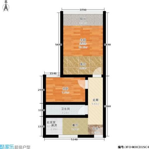 花园铁路新村2室0厅1卫0厨50.00㎡户型图