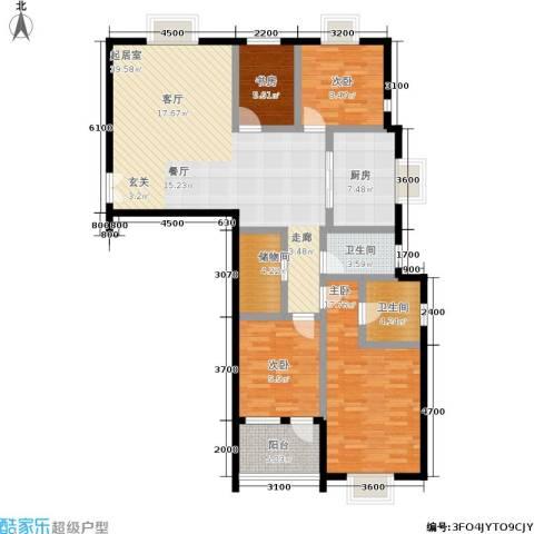 泰和苑4室0厅2卫1厨138.00㎡户型图
