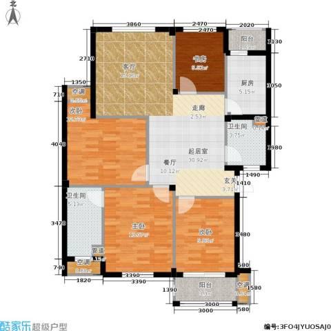 湖滨花园4室0厅2卫1厨113.00㎡户型图