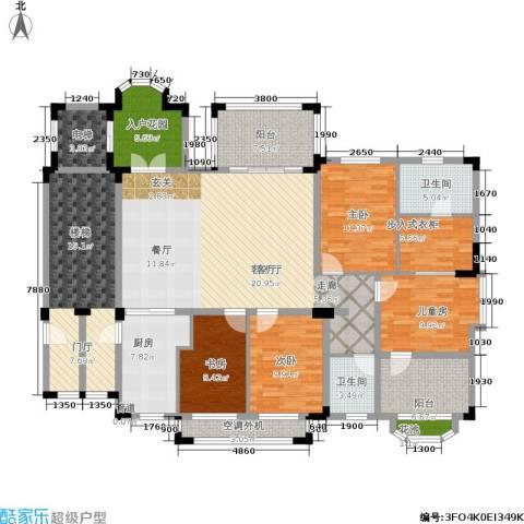 万科紫台4室1厅2卫1厨150.43㎡户型图
